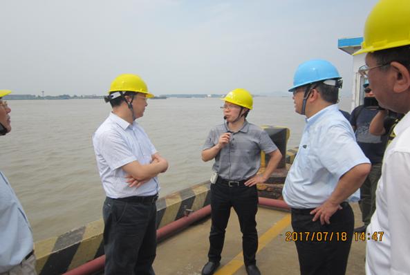 镇江市常务副市长倪斌一行视察港龙石化码头